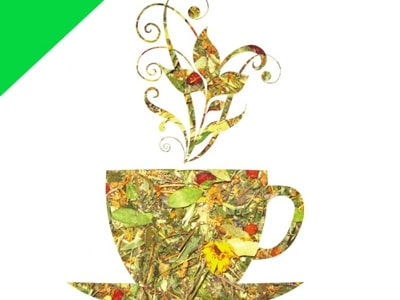 "Натуральный травяной чай ""Зеленый чай"""